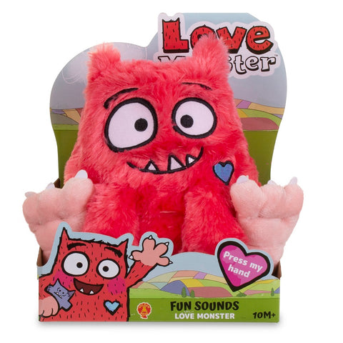 Fun Sounds Love Monster Soft Toy