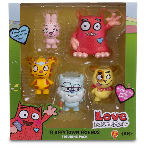 Love Monster and Friends Figurine Set