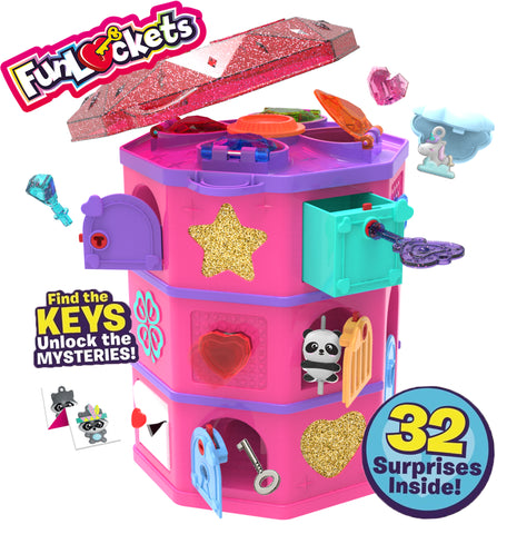Funlockets Secret Surprise Treasure Hunt Tower with Jewellery and Charms