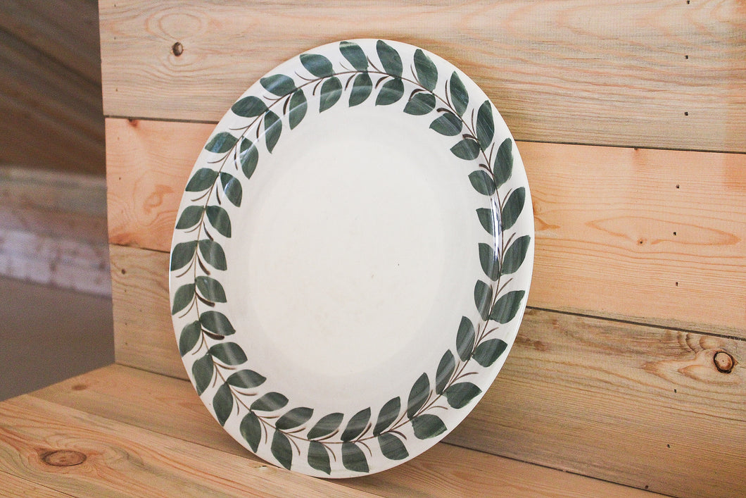 Red Wing Leaves Platter