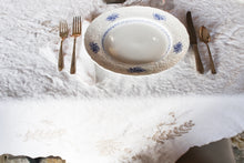 Load image into Gallery viewer, Embroidered Linen Tablecloth