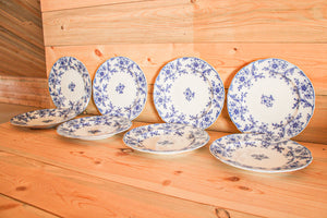 Blue and White Floral Plates