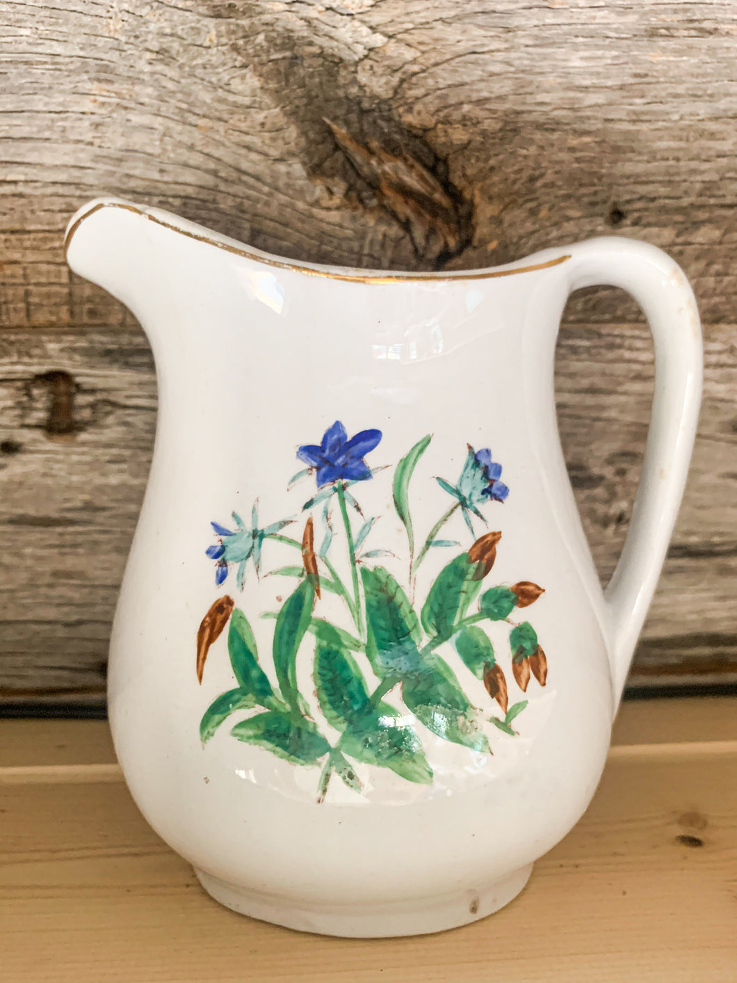 Ironstone Floral Pitcher