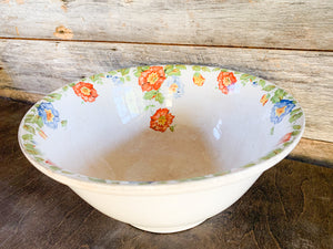 Ironstone Floral Mixing Bowl