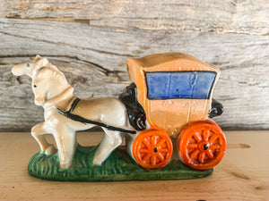 Horse and Carriage Toothpick Holder