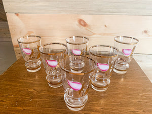 Hand Painted Cordial Glasses