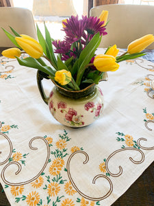 Hand Embroidered Table Cloth