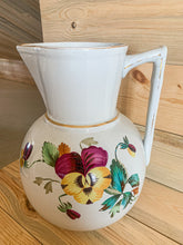 Load image into Gallery viewer, Pansy Ironstone Pitcher