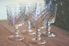 Load image into Gallery viewer, Vintage Crystal Glasses - 4