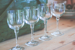 Crystal Wine Glasses - 4
