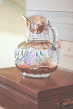 Load image into Gallery viewer, Floral Glass Pitcher