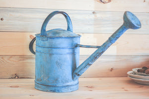 Blue Metal Watering Can