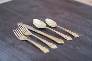 Gold Hued Flatware