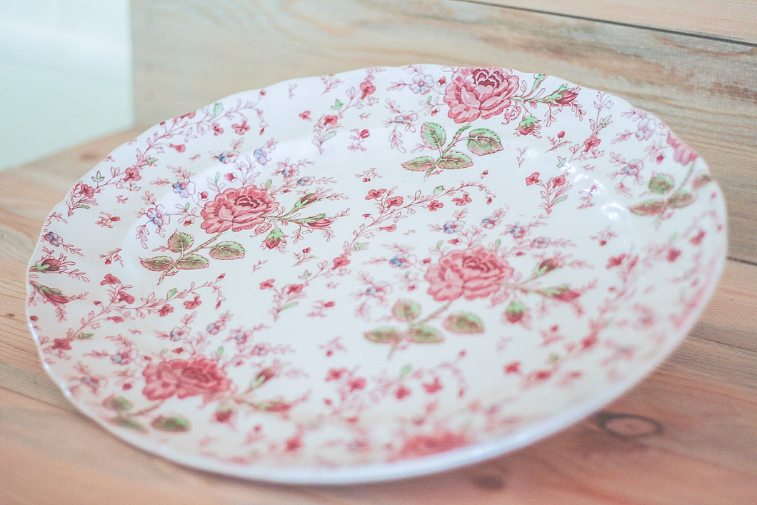 Rose Chintz Platter