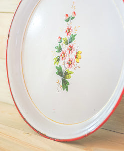 Floral Tin Tray