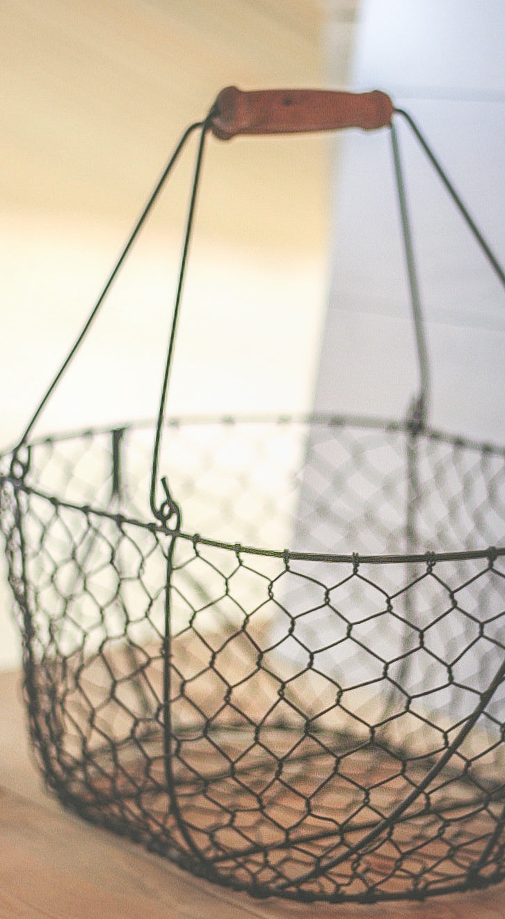 Wire Handled Basket