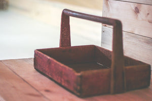 Red Wooden Caddy