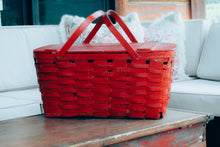 Load image into Gallery viewer, Red Picnic Basket