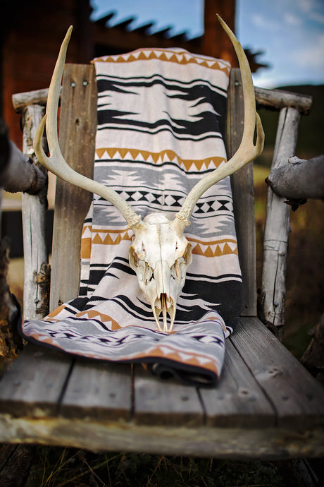 Authentic Deer Antler and Scull