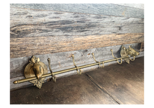 Load image into Gallery viewer, Antique Brass Hat Rack