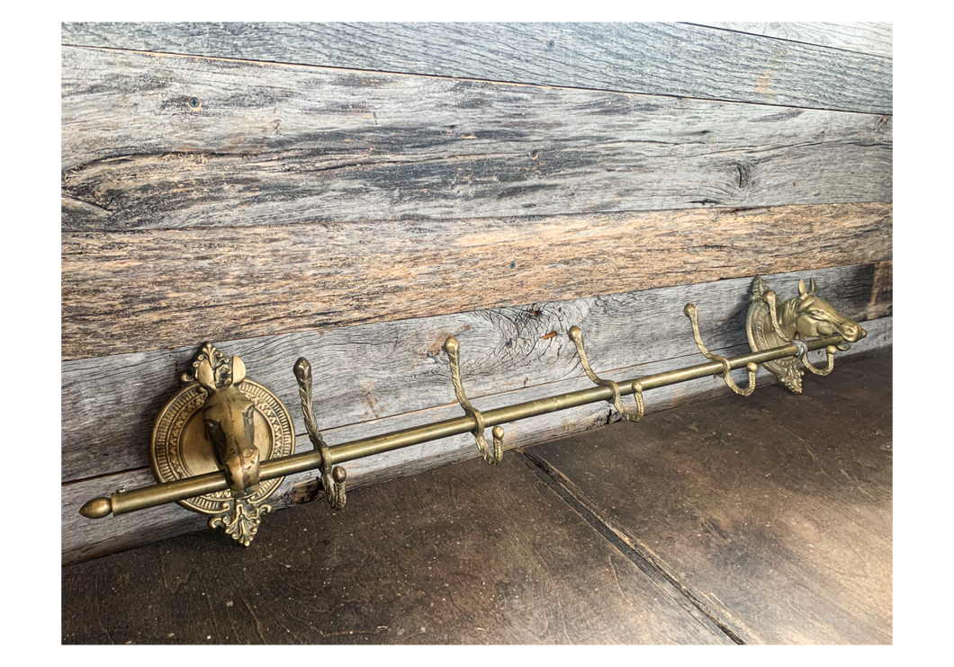 Antique Brass Hat Rack