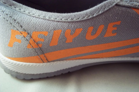 Shaolin Grey and Orange Feiyue Shoes for Kung Fu