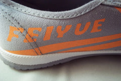 Shaolin Grey and Orange DaFu Chinese Feiyue Shoes