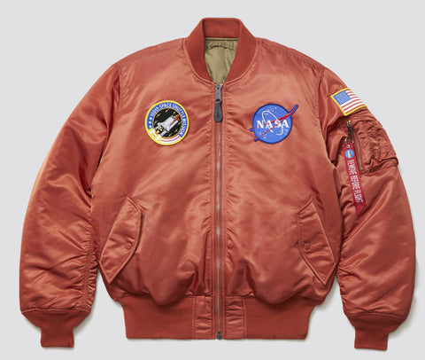 Alpha Industries Nasa MA-1 Flight Jacket White Rust