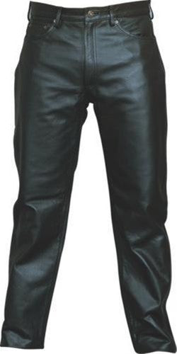 Men's Premium 5 Pocket Analine Leather Motorcycle Pants