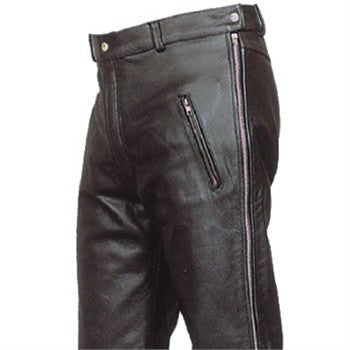 cfeab09a8c83 Classic Biker Leather — Men s Premium Buffalo Leather Pants with ...