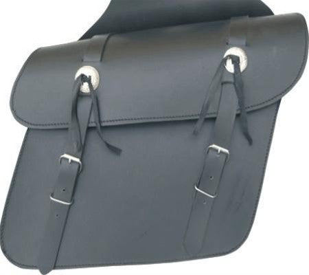 Medium Plain Leather Throwover Motorcycle Saddlebags