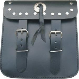Leather Studded Motorcycle Sissy Bar Bag