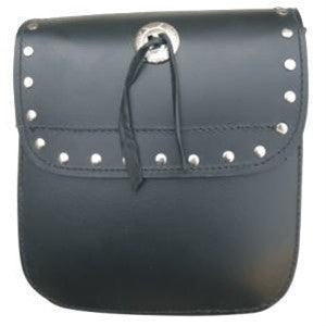 Studded Leather Motorcycle Sissy bar bag