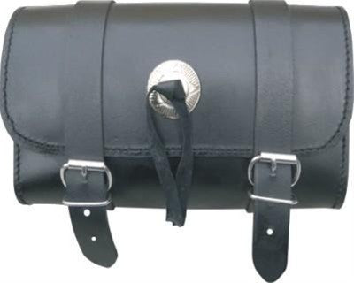 Medium Leather Tool Bag with Silver Conchos and Studs or Fringes