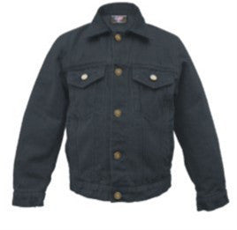 Kid's 14 oz. Black Denim Jacket
