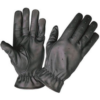Full finger Vented Unlined Driving Gloves with Elastic Wrist