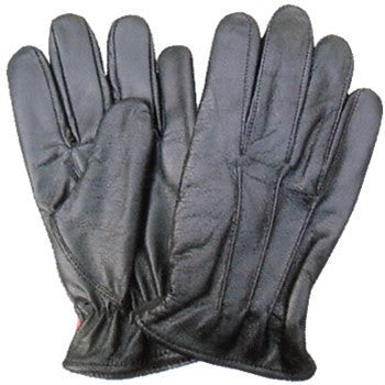 Black Leather Driving Gloves with Elastic Wrist (lined)
