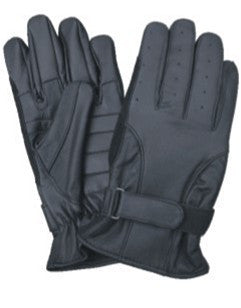 Full Finger Leather Driving Gloves with Gel Palm