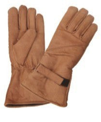 Brown Padded Motorcycle Riding Gloves lightly lined