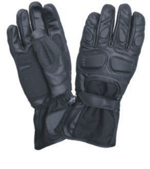 Padded Motorcycle Riding Gloves Analine Leather and Cordura