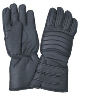 Padded Leather Motorcycle Riding Gloves