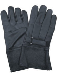 Soft Lambskin Leather Motorcycle Riding Gloves Fleece Lined