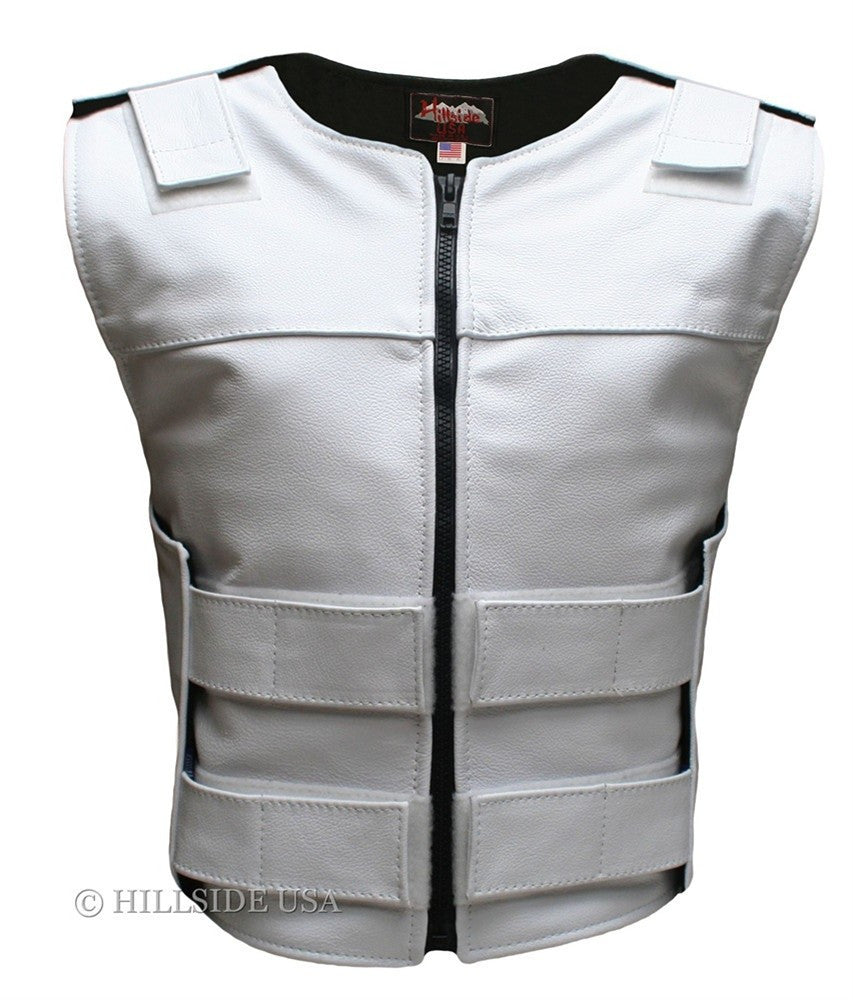 womens made in usa zippered bullet proof style leather