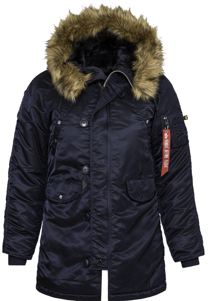 Alpha Industries Women's N-3B Gen I Parka Blue