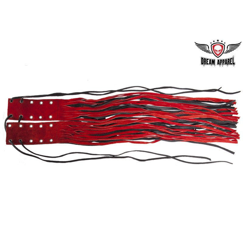 Red and Black Motorcycle Fringed Brake Clutch Cover