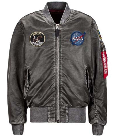 Alpha Industries Apollo MA-1 Flight Jacket Battlewash Gray