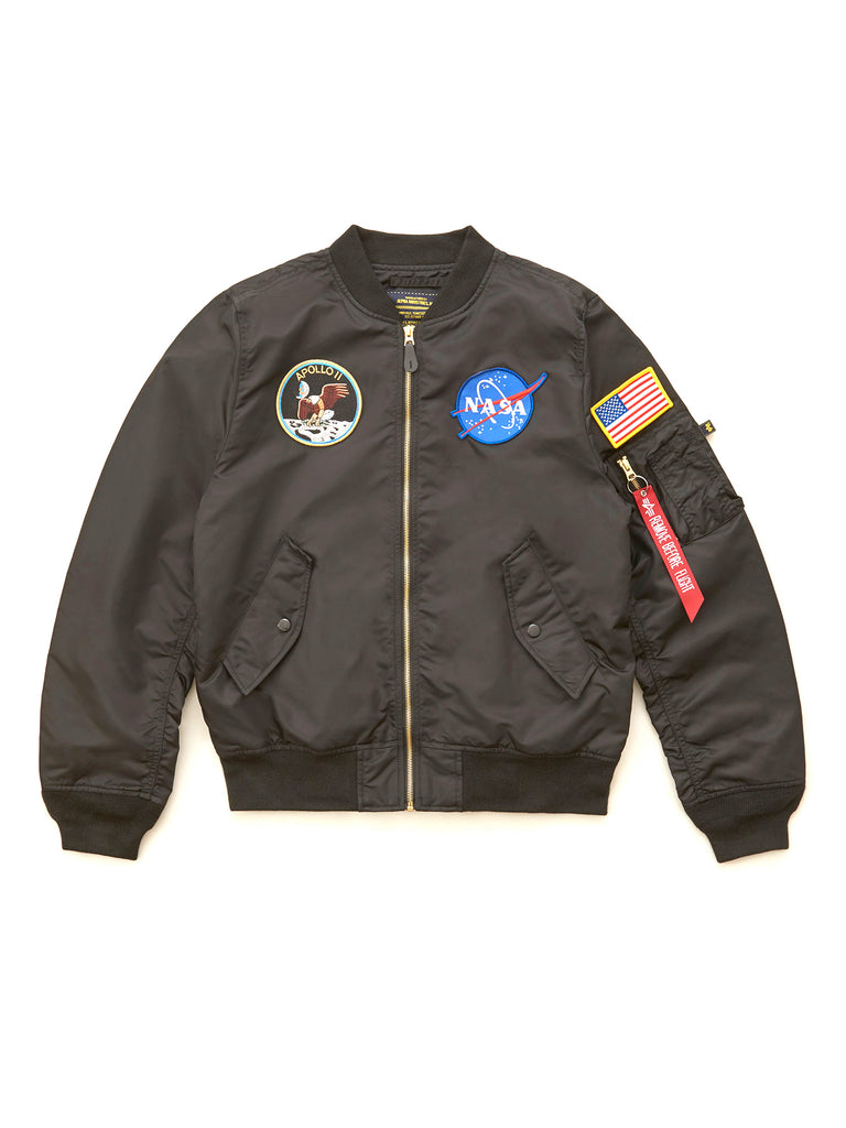 Alpha Industries Black L-2B Apollo Flight Jacket