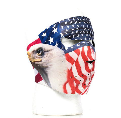 USA Flag American Bald Eagle Neoprene Face Mask