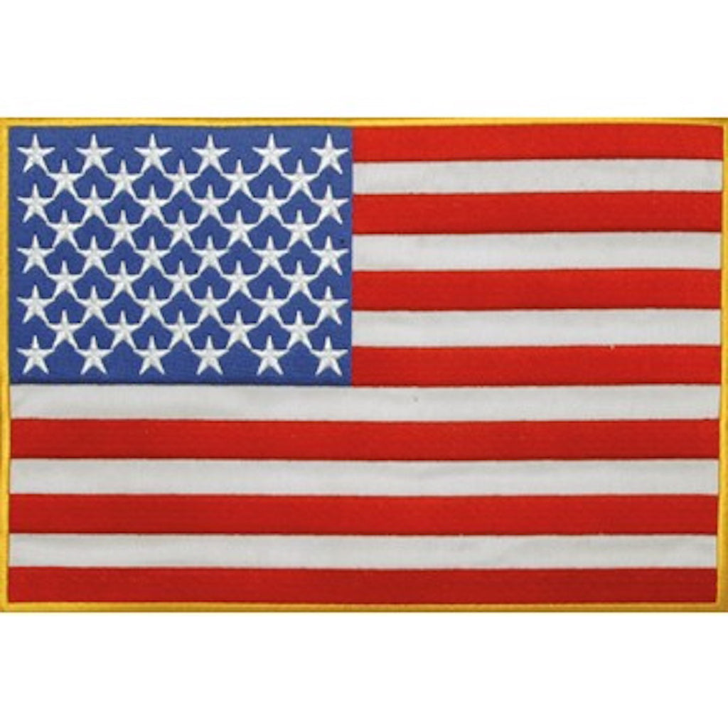 "American Flag Medium Motorcycle Vest Patch 7"" x 10"""