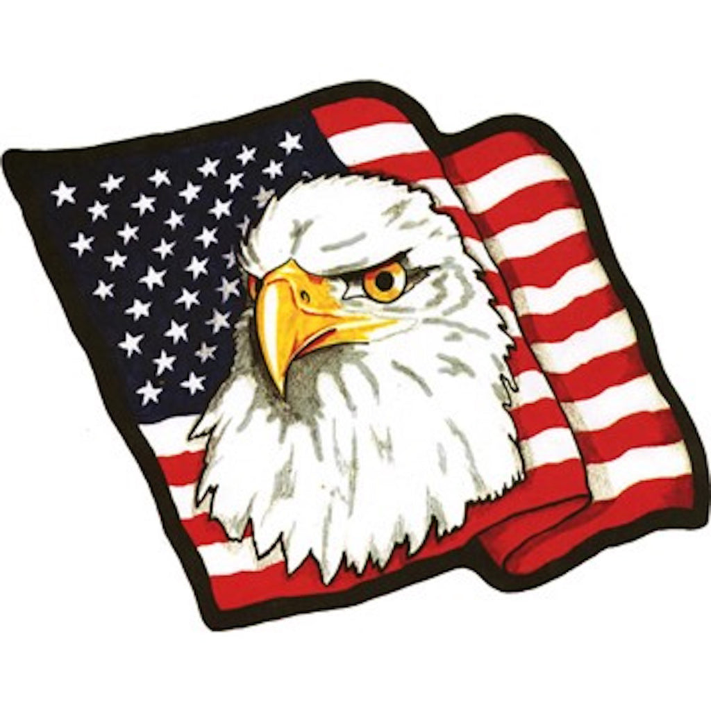 American Flag with Eagle Head Biker Vest Patch